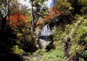 西和賀白糸の滝紅葉